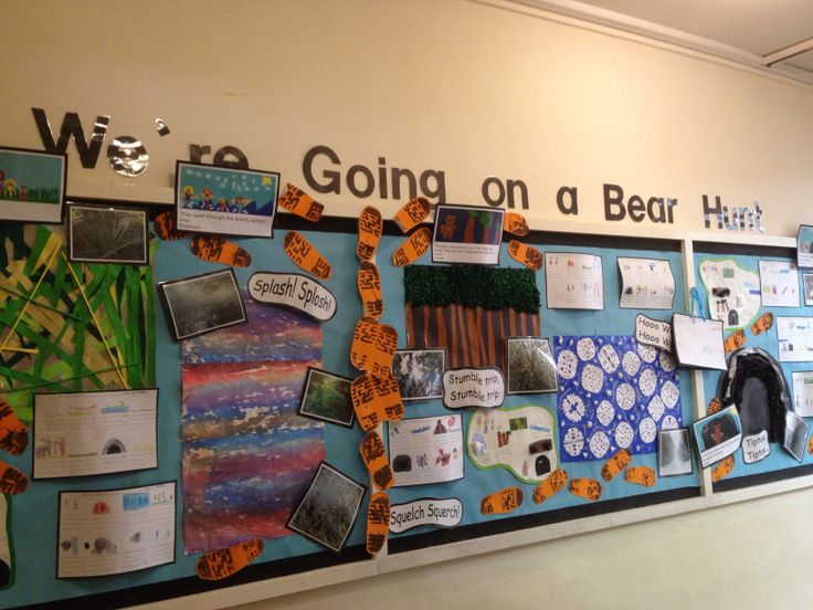 'We're going on a bear hunt' class display.