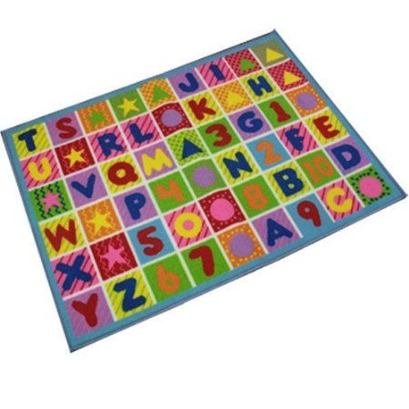 Childrens Large Anti Slip Colourful Letters Shapes Numbers Play Mat, Bedroom Nursery Mat Rug. Size: 80 x 110cm: Amazon.co.uk: Kitchen & Home...