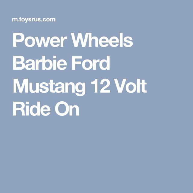 Power Wheels Barbie Ford Mustang 12 Volt Ride On