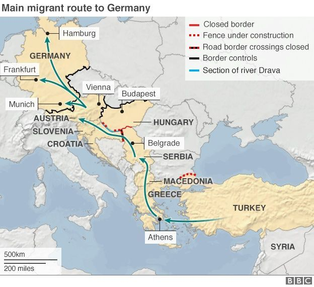 114 best refugee crisis images on pinterest refugee crisis middle map of route of many migrants gumiabroncs Images