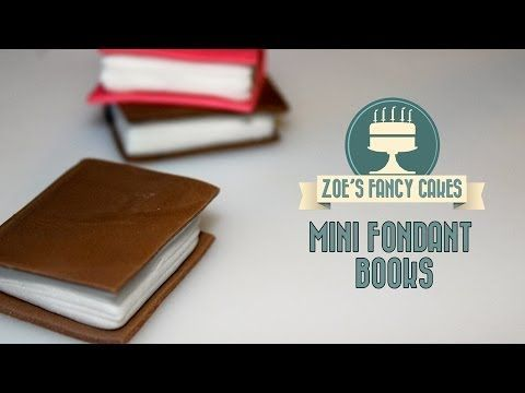 How to make mini fondant books for cake decorating How To Tutorial Zoes Fancy Cakes - YouTube