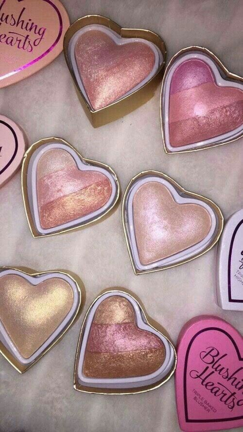Too faced highlighters and blush. Beautiful ☼ ☾pinterest - aabigaylee