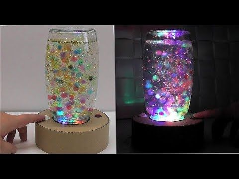 How to make a lamp with ORBEEZ cardboard - YouTube
