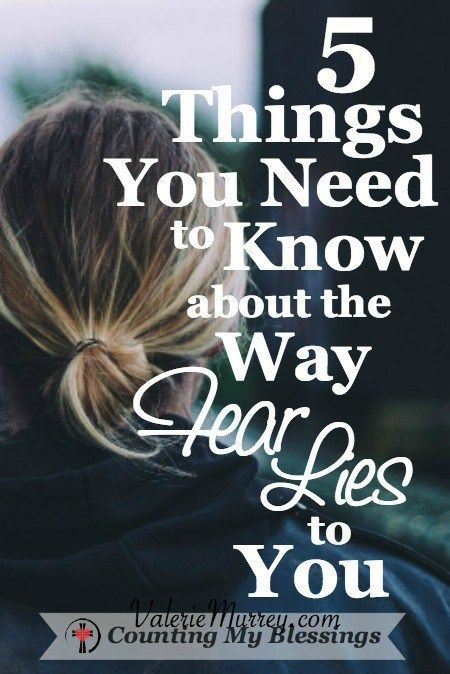 5 Things You Need to Know about the Way Fear Lies to You - Counting My Blessings
