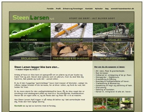 Hjemmeside til Steen Larsen ApS