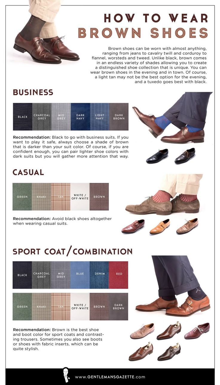 How to wear brown shoes