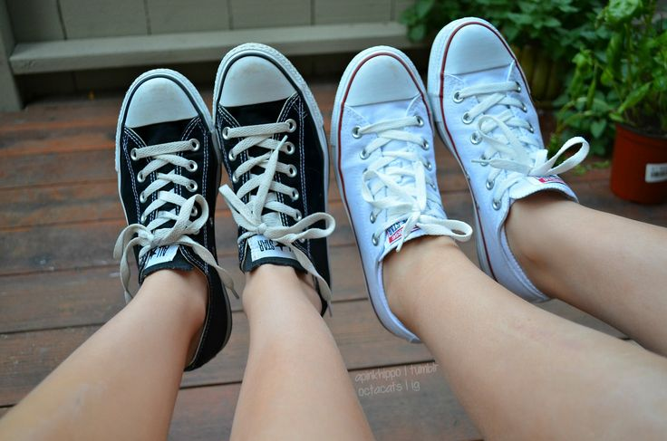 converse. ❃ I have the white pair