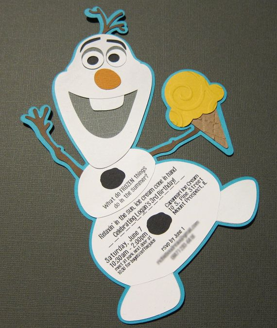 Frozen Olaf Ice Cream Party Invitation by SassyPapier on Etsy, $1.75