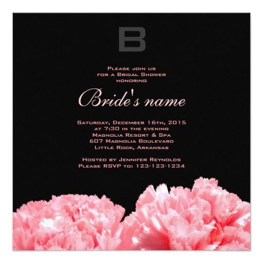 Monogrammed Bridal Shower Invitation - #bridal #bridalshower