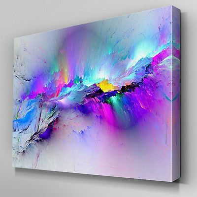 AB968 Modern multicoloured blue Canvas Wall Art Abstract Picture Large Print | eBay #Pictures