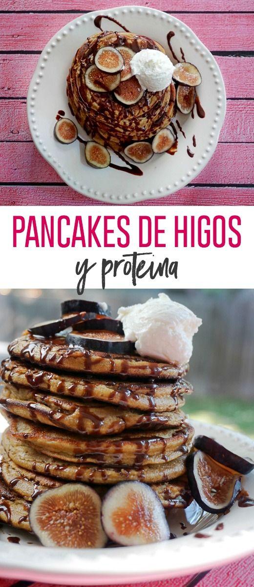 Pancakes saludables #healthypancakes #pancakes #proteina #higos #desayunosaludable #desayunosconproteina #healthybreakfast