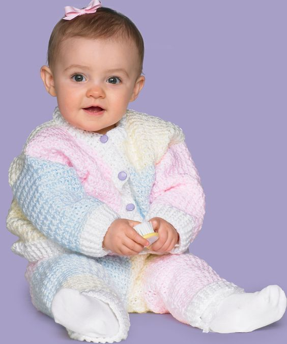 Crochet Toddler Set Crochet Pattern  Dress up your little one in sweet style with this cute crochet outfit! Made in Red Heart Soft Baby for extra softness and cozy comfort plus easy care.  Red Heart Free Pattern - no membership required.