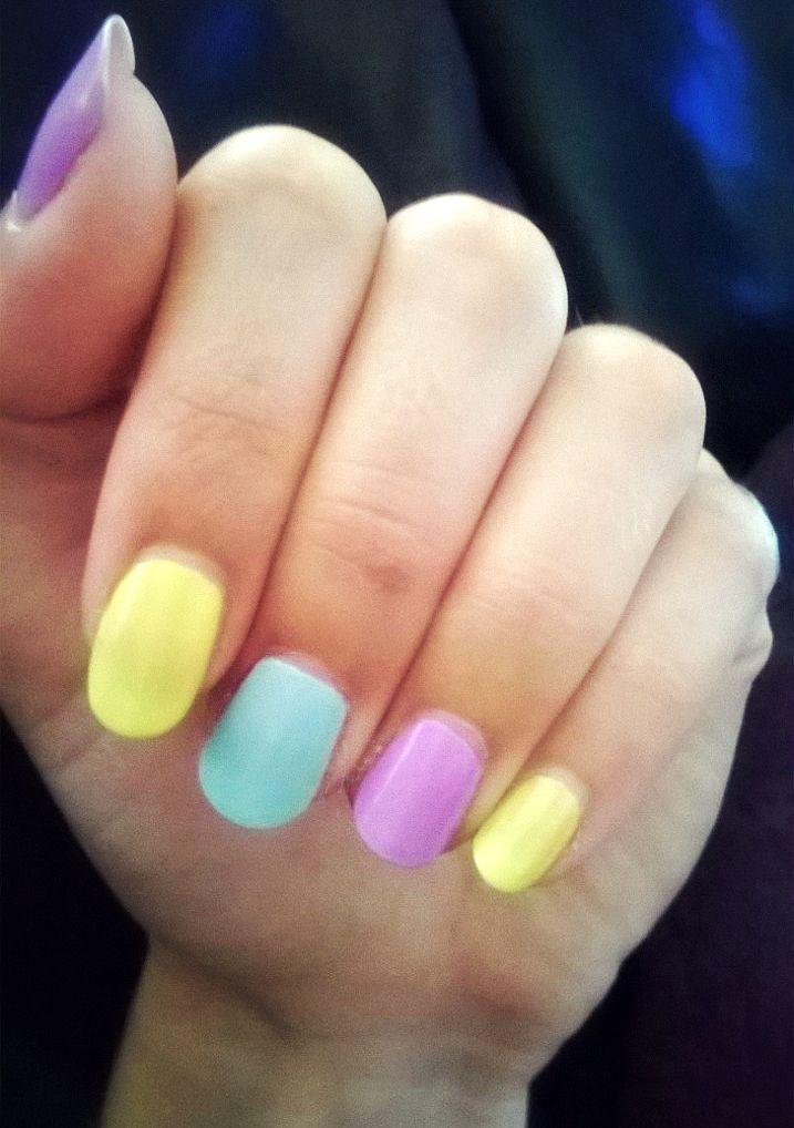 Pastel nails #nails #pastels