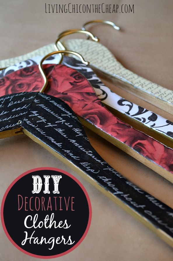 ***DIY Decorative Clothes Hangers*** This was such an easy project. You can totally make these on the cheap. I made these for around $2 per hanger. These would also make a great gift. #DIY #Modpodge #craft