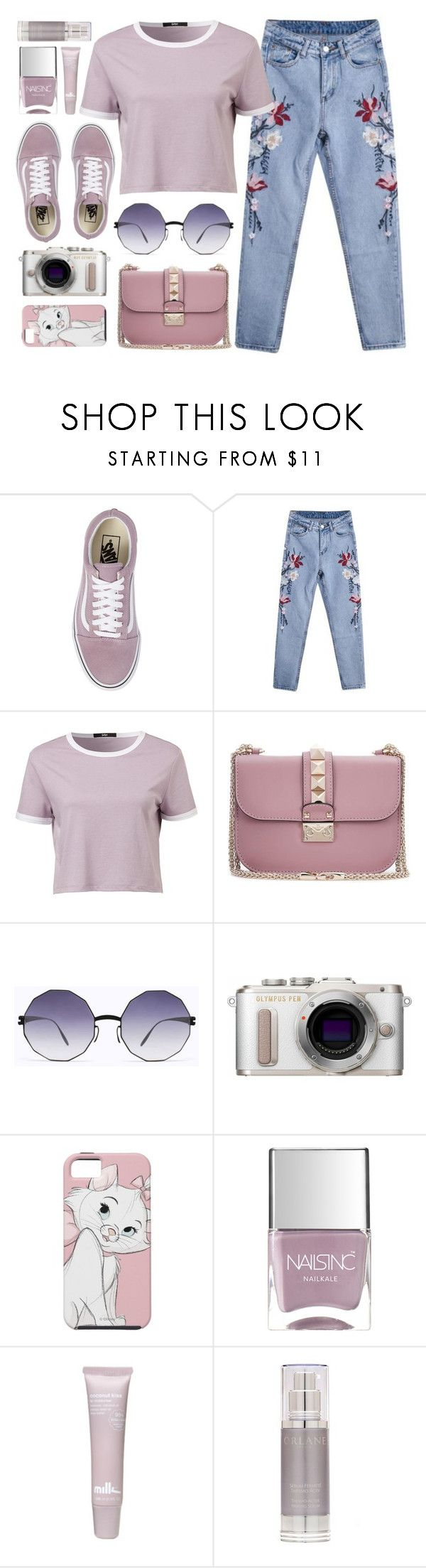"""Candy"" by smartbuyglasses-uk ❤ liked on Polyvore featuring Vans, Valentino, Mykita, PL8, Nails Inc., Orlane, Pink and purple"