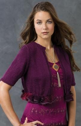 This knitting pattern for Juliet's Little Shrug is great to wear with jeans or a dress - it'll look great either way!