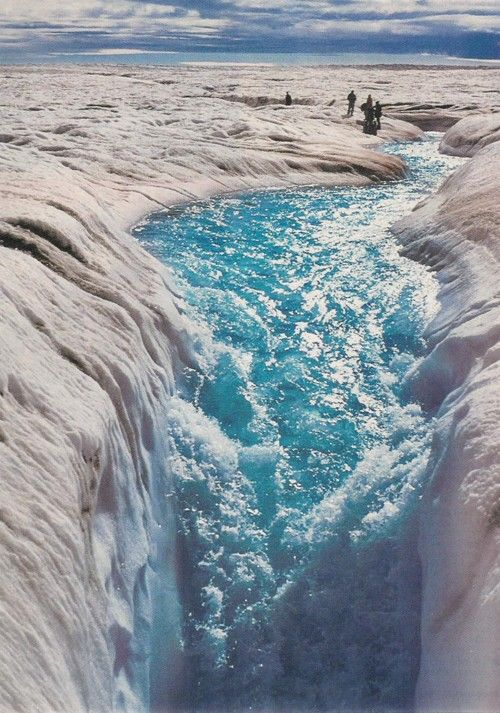 Melting on Greenland Ice Sheet - okay not a fan of the cold but would go to see this...from a helicopter