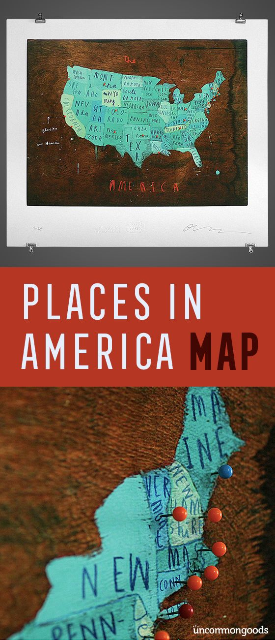Map your adventures using this interactive push pin map.
