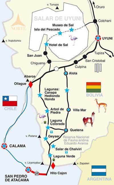 SanPedrodeAtacama.Net&Org Tours económicos en San Pedro de Atacama. - Tour Clásico / Salar de Uyuni