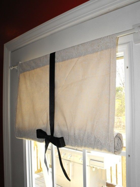 Dyi french door curtains easy decorating pinterest for Front door curtain ideas