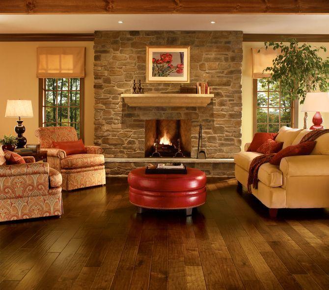 Pueblo Brown Walnut Hardwood Floors by Armstrong  Family Room DesignFamily  ...