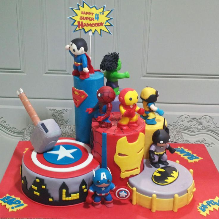 A Four years old Birthday wish to have all his favorite Superheroes on his cake. Major fun in doing all the stunning 8 characters. We added a small toy motor on the top level to allow the signage to rotate.and small LED lights for Iron Man eyes to...