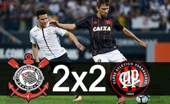 Corinthians 2 x 2 Atlético PR Gols & Melhores Momentos - Brasileirão 2017 1°Tempo