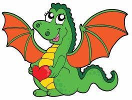 vector cute cartoon dragon