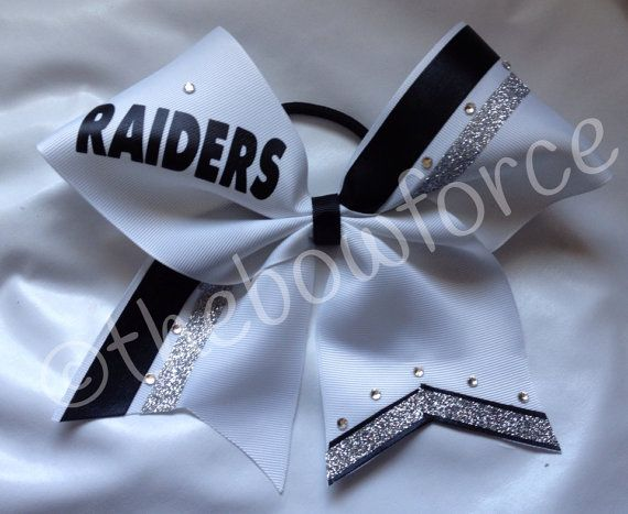 Raiders Cheer Bow by TheBowForce on Etsy, $12.00