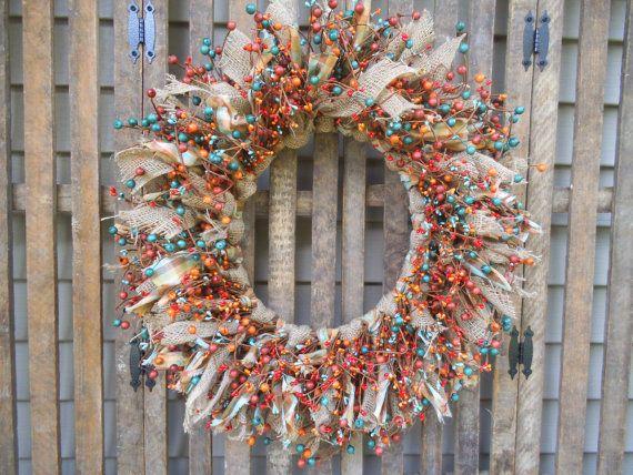 Rustic  Wreath Southwest Wreath Southwest Decor by RagsandBerries