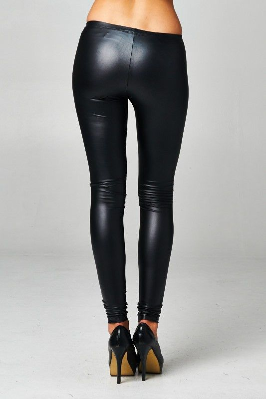 These leggings are hot, hot, hot! Elastic at the waist and made of soft, stretchy pleather fabric. 96% Polyester 4% Spandex