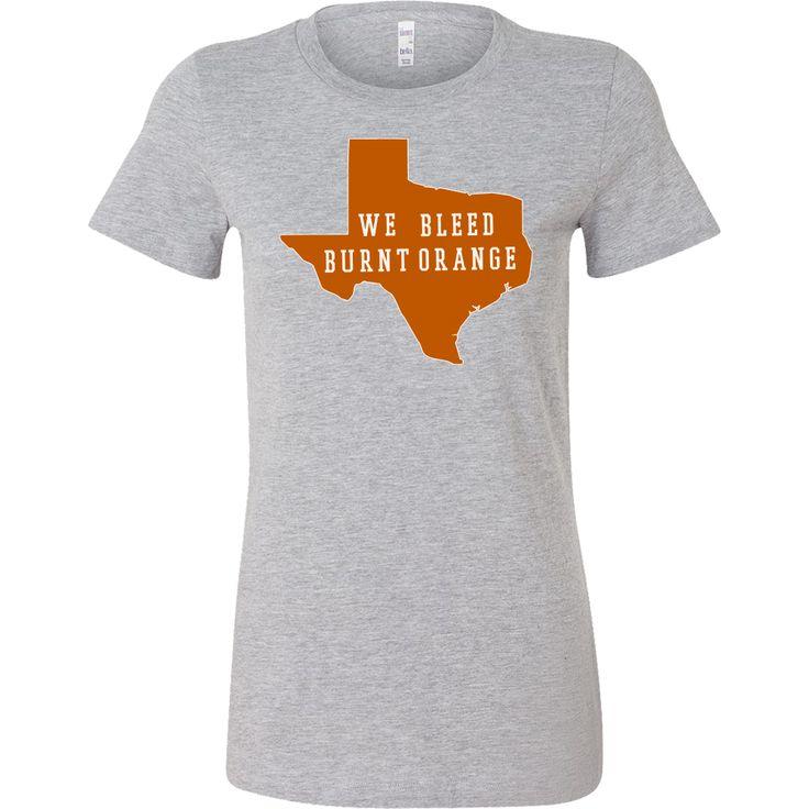 Texas Burnt Orange Background We Bleed Burnt Orange Women's T-shirt Slim Fit