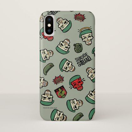 Suicide Squad | Rick Flag Emoji Pattern iPhone X Case - pattern sample design template diy cyo customize