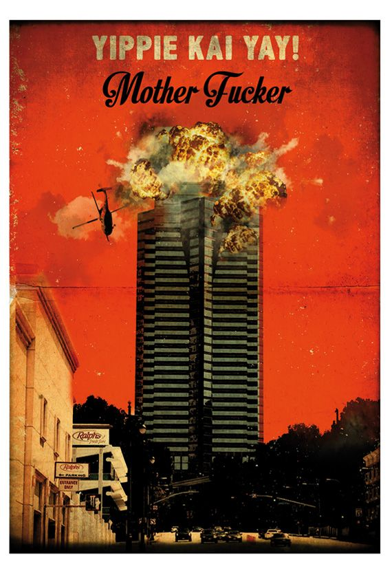 Die Hard retro style poster movie. Nakatomi building. Available in different sizes. Digital Art. Vintage quote print. #artwork #design #posterprint #diehard #nakatomi #bomb #brucewillis #postermovie