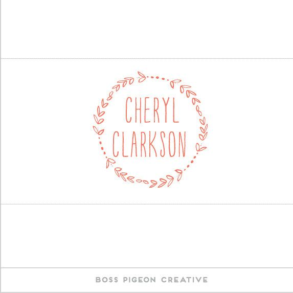 Pre Made Graphic Design Feminine Logo Cheryl Clarkson 3800 Via Etsy