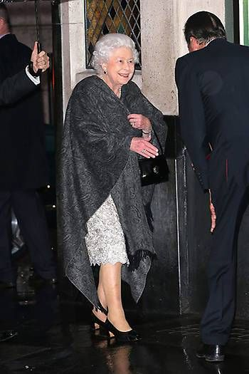 The Queen was in high spirits as she arrived at The Ivy in London's Covent Garden Photo (C) GETTY IMAGES