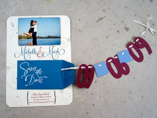 30  Unique Save the Date Card Ideas--- this one really cute.  but add bike and dragonfly