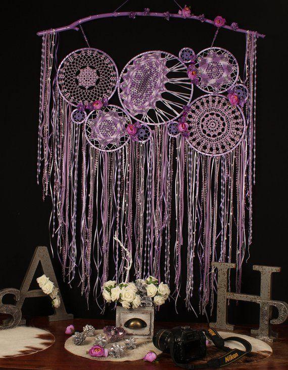 Decor Wall Hanging Large Lilac Dream Catcher Home Dreamcatcher Nur