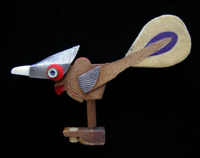 A bird from piano hammers.
