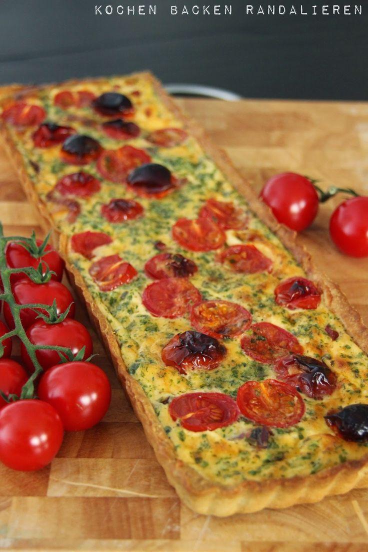 Kochen Backen Randalieren: Tomaten Schinken Quiche #ichbacksmir #quiche