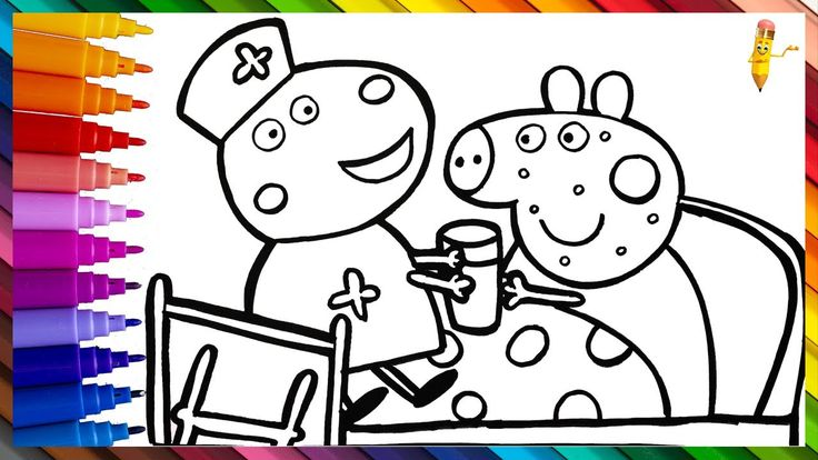 Pin on Peppa Pig Drawing And Coloring For Kids
