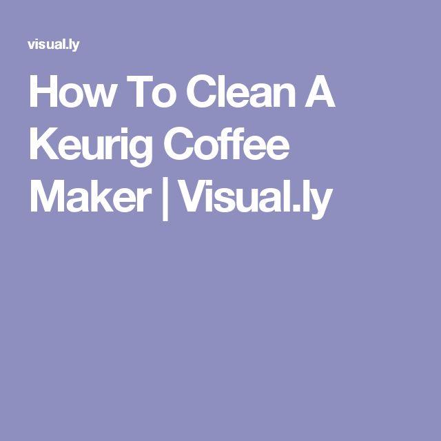 best way to clean keurig coffee machine