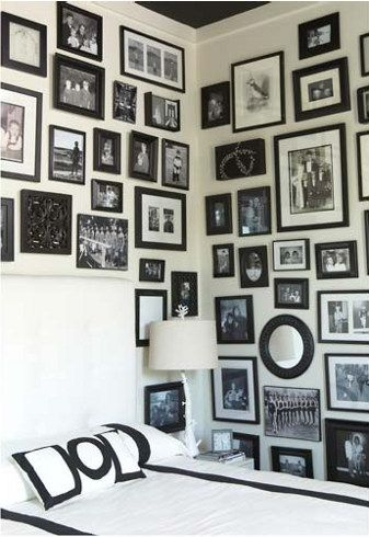 Photo from Jeam Allsopp.Black Frames, Photo Walls, Black And White, Gallery Walls, Photos Wall, Picture Frames, White Frames, Pictures Frames, Black White Photos