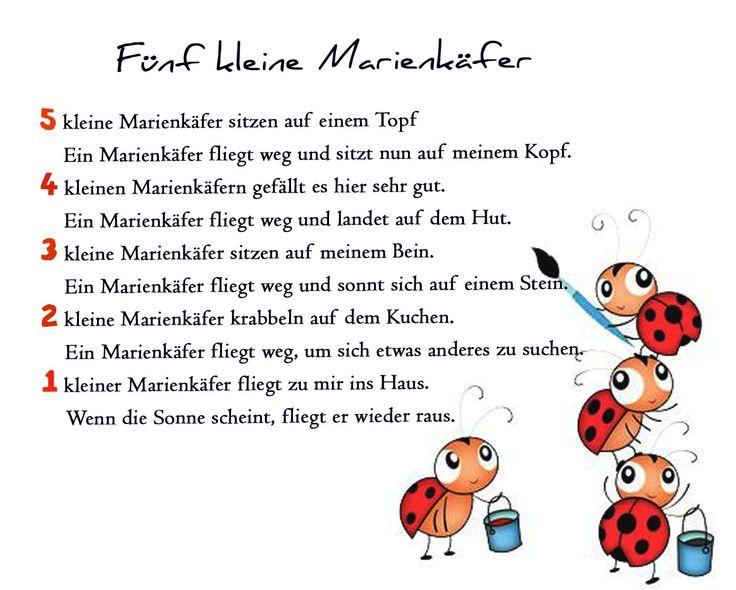 Marienkäfer Gedichte Reim Geschichte Kindergarten Erzieherin Kita Kinder Erziehung