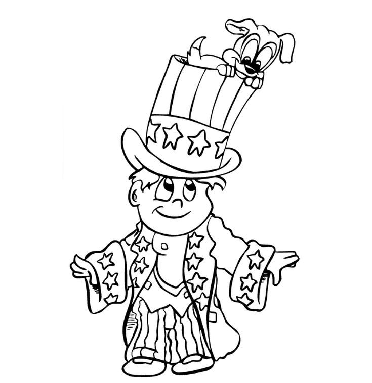 Free Printable 4th Of July Coloring Pages July Colors Coloring Pages Coloring Pages For Kids