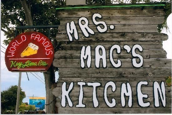 Mrs Macs Kitchen in Key Largo Look for the Sign Mrs. Mac's Kitchen Add to trip 99336 Overseas Hwy, mm 99.4 Southbound US Hwy. 1, Key Largo, FL 33037 305-451-3722Website E-mailUpdate restaurant details