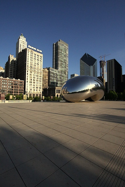 morning bean!  cloud gate by anish kapoor