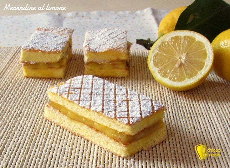 Merendine fatte in casa al limone ricetta il chicco di mais