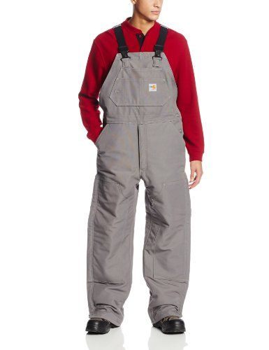carhartt men s flame resistant duck bib lined overall on men s insulated coveralls cheap id=82372