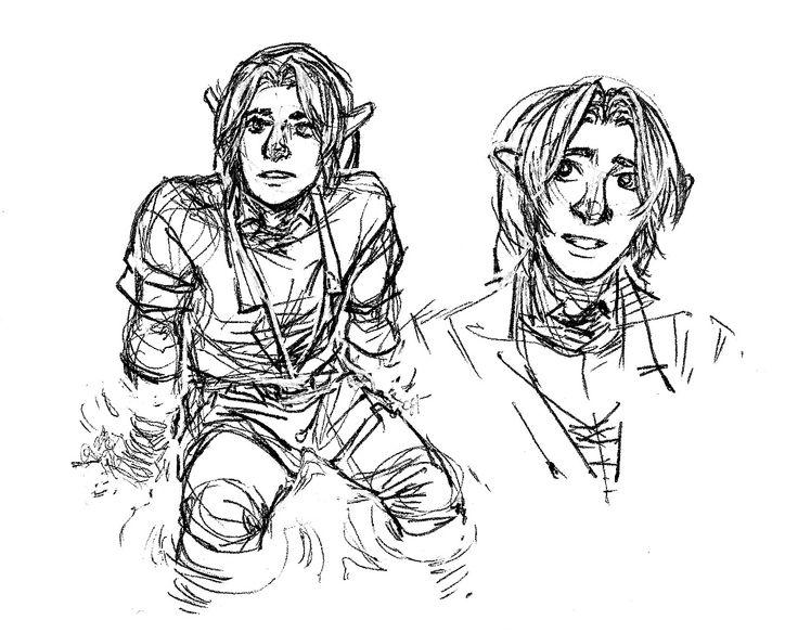 OoT Link Sketches, Drawings, Humanoid sketch